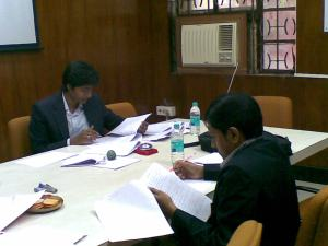 Kaushal and Abinash assessing the written submission